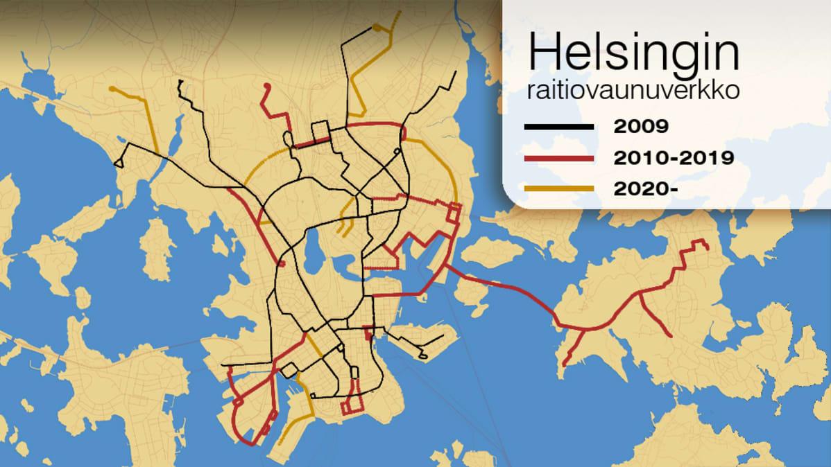 Raitioliikenne Paisuu Lahes Kolmanneksella Helsingissa Yle