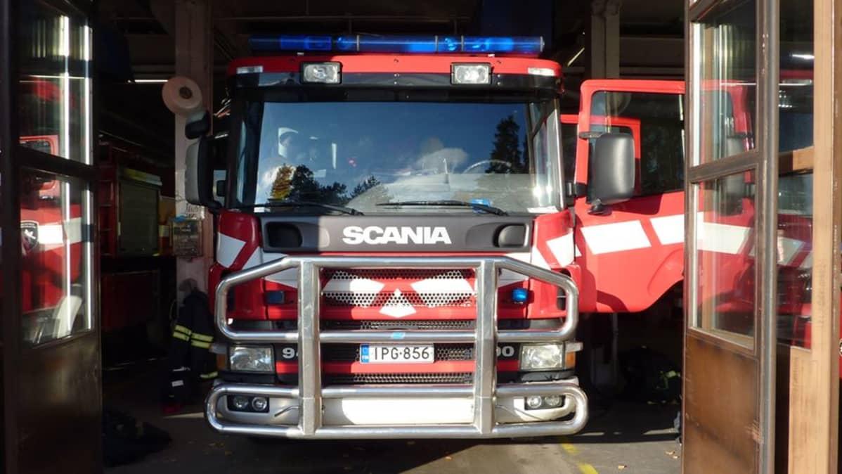 Keski-Suomen pelastuslaitoksen paloauto