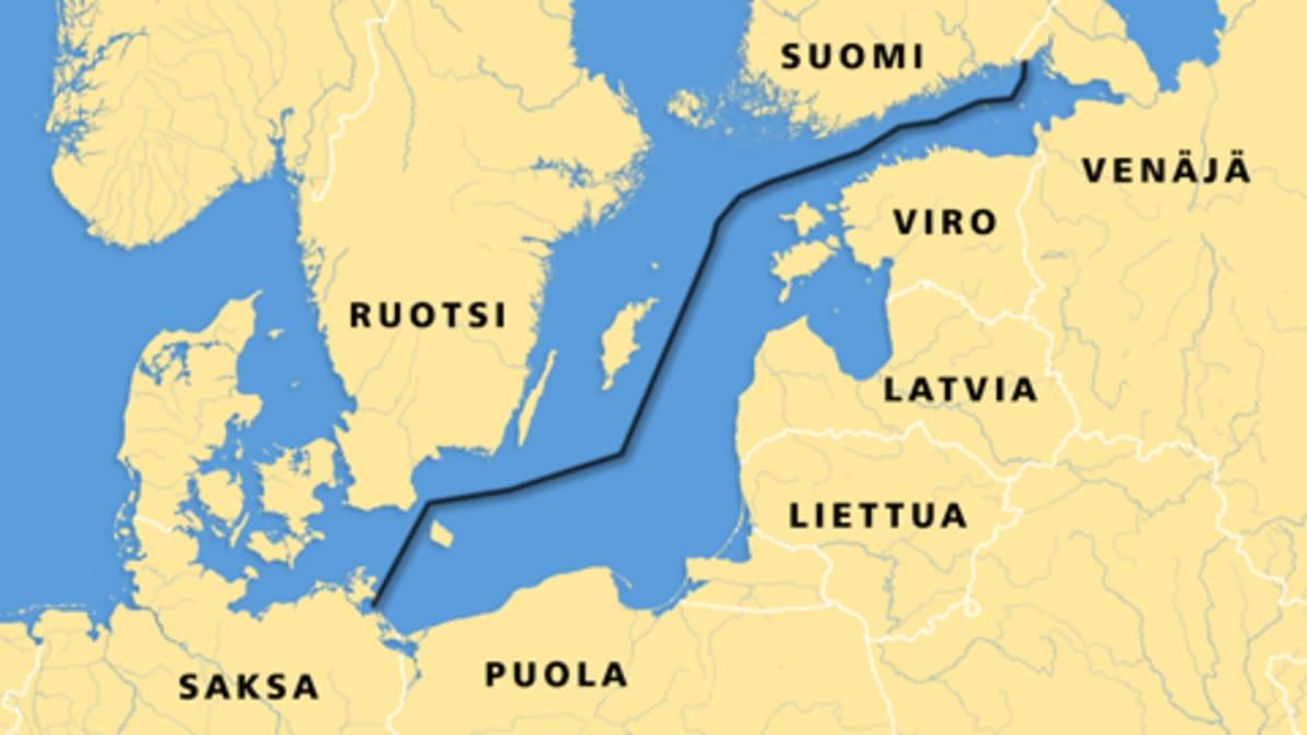Itameren Kaasuputken Lupakierros Pahasti Myohassa Yle Uutiset