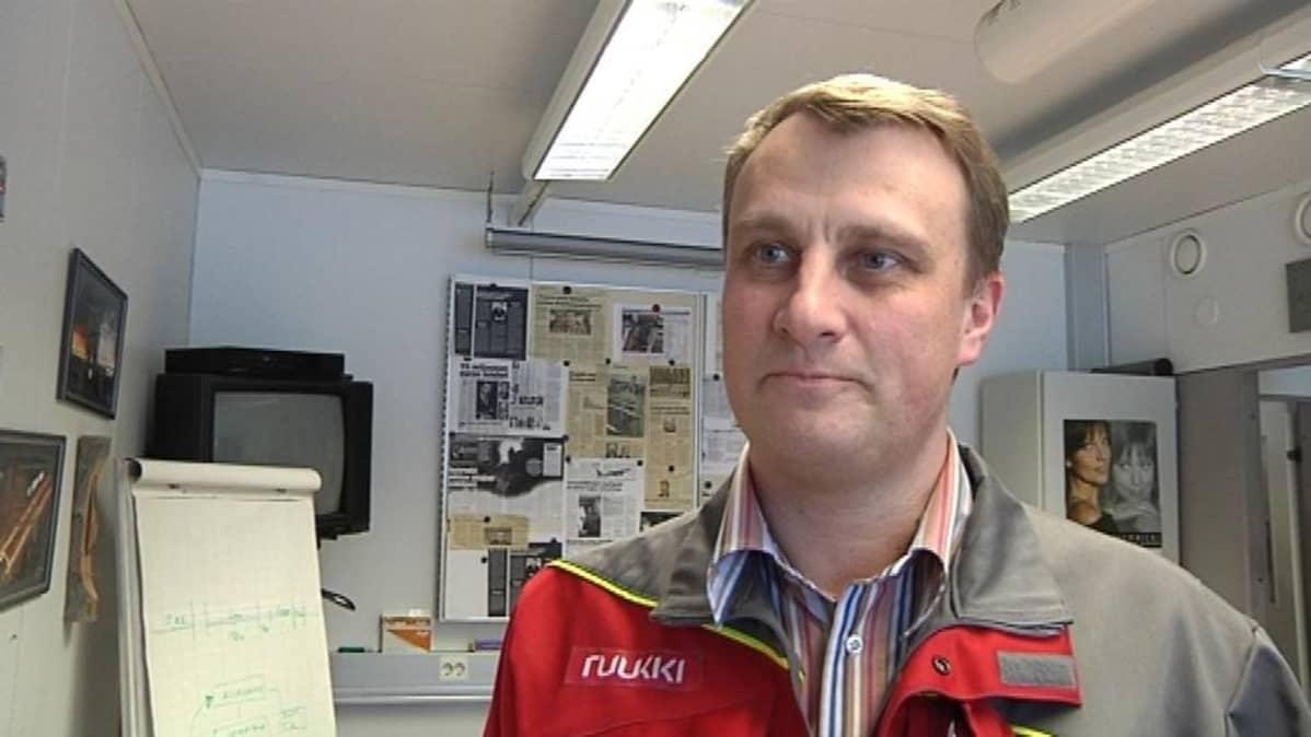 SSAB:n Raahen tehtaan pääluottamusmies Mika Vuoti