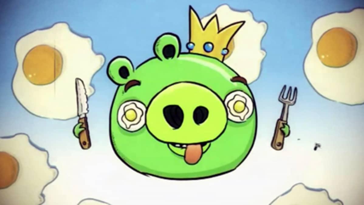Kuva Angry Birds -kännykkäpelistä.