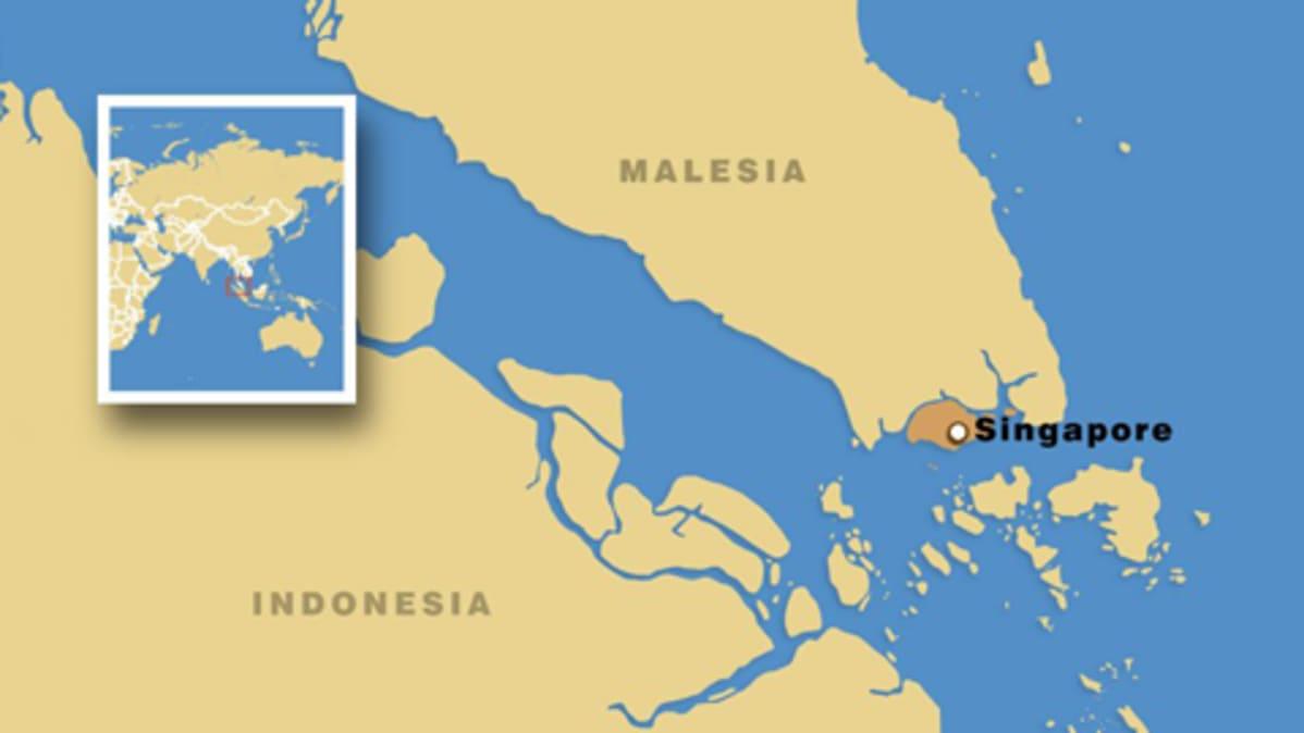 Laivat Yhteen Singaporen Edustalla Yle Uutiset Yle Fi
