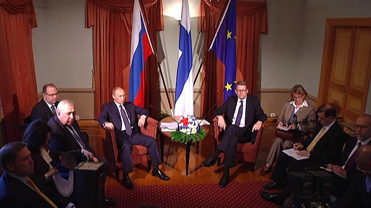 Matti Vanhanen ja Vladimir Putin