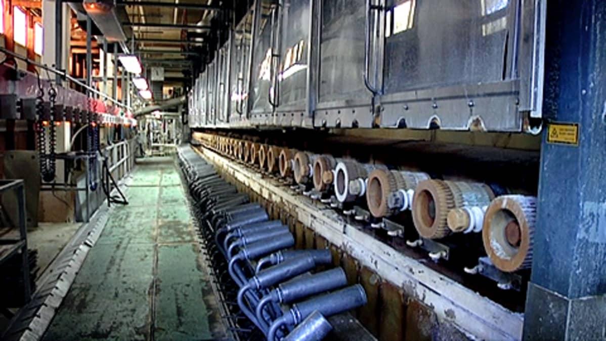 Kehruukone Kuitu Finlandin tehtaalla