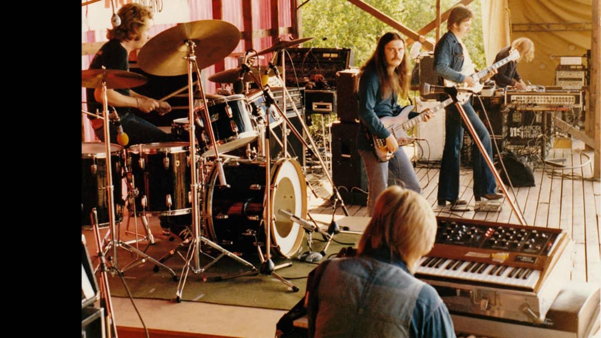 Pekka Pohjola Group Kuusrockissa vuonna 1978