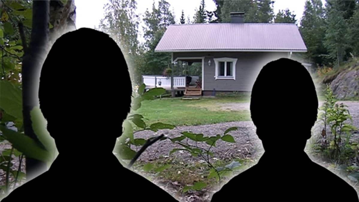 Epämääräisiä kulkijoita on tavattu talojen pihoista.