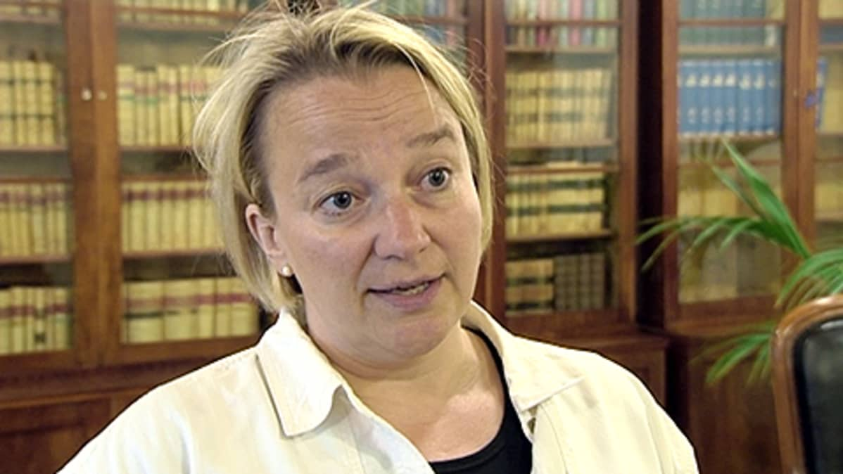 Oikeusministeri Tuija Brax. Lähde: Yle