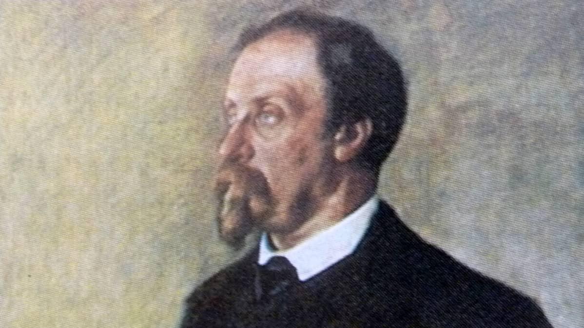 Juhani Aho Eero Järnefeltin maalauksesta.