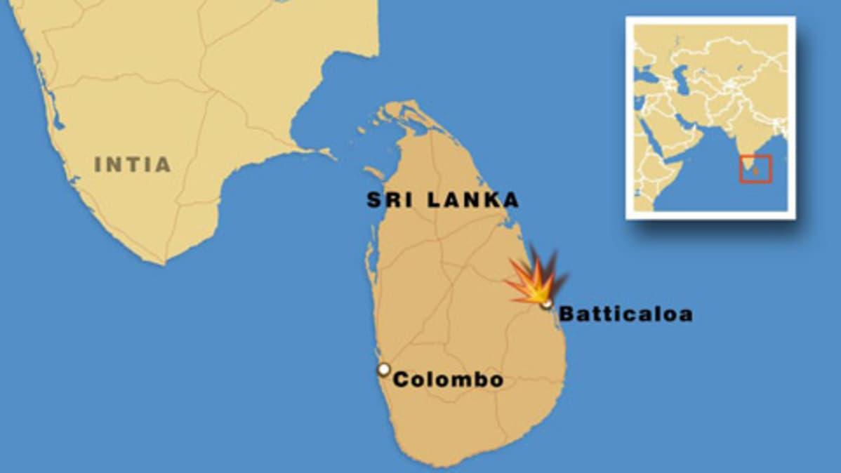 Ainakin 25 Kuoli Sri Lankan Rajahdyksessa Yle Uutiset Yle Fi