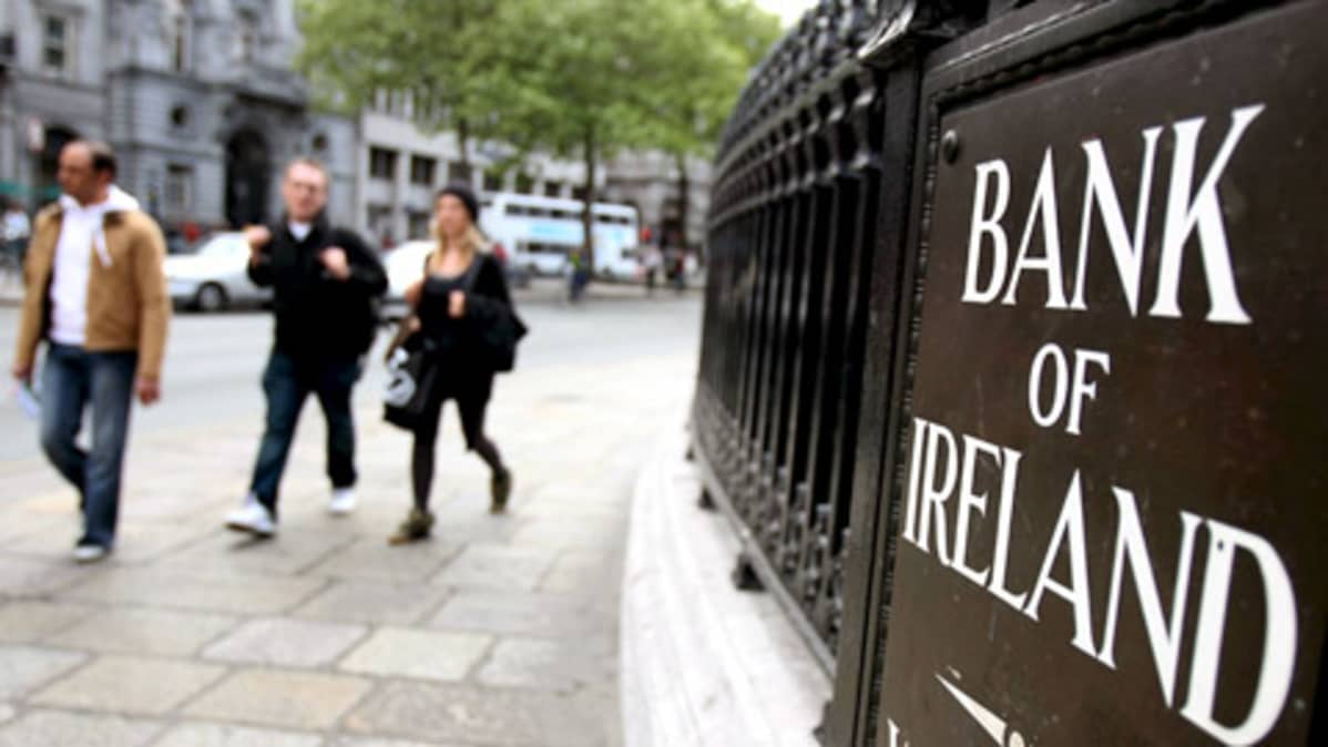Bank of Irelandin (BOI) konttori Dublinissa.