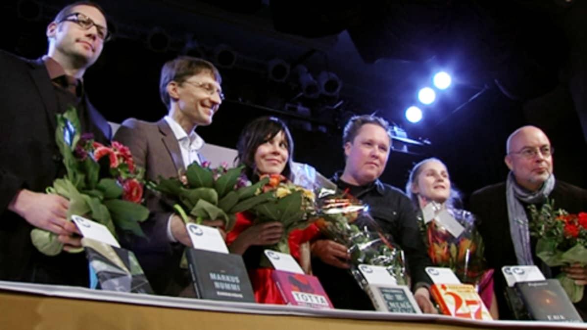 Vuoden 2010 Finlandia-palkintoehdokkaat.