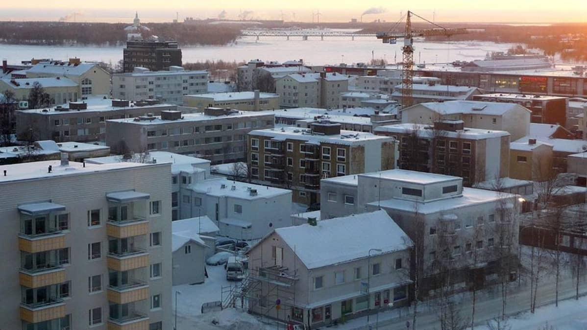 Näkymä Tornion kaupungin keskustasta
