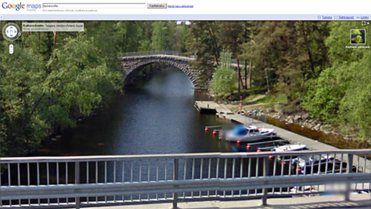 Aunessilta Google Street View -palvelussa