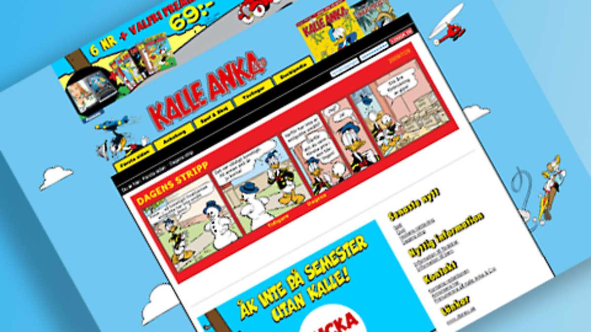 Kalle Ankan nettisivu