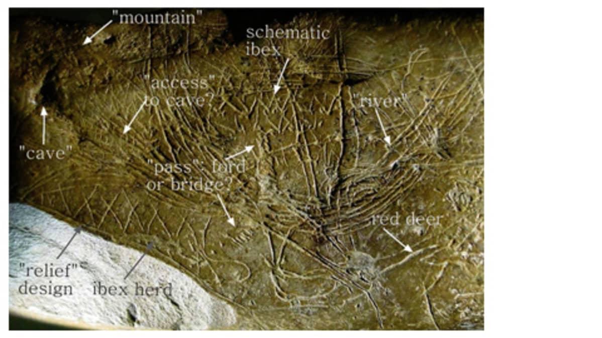 Osa Zaragozan yliopiston tutkijoiden löytämää Euroopan vanhinta karttaa.