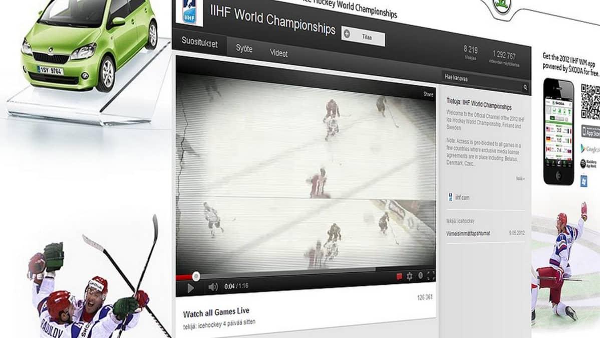 Kansainvälisen jääkiekkoliiton sivu YouTubessa.