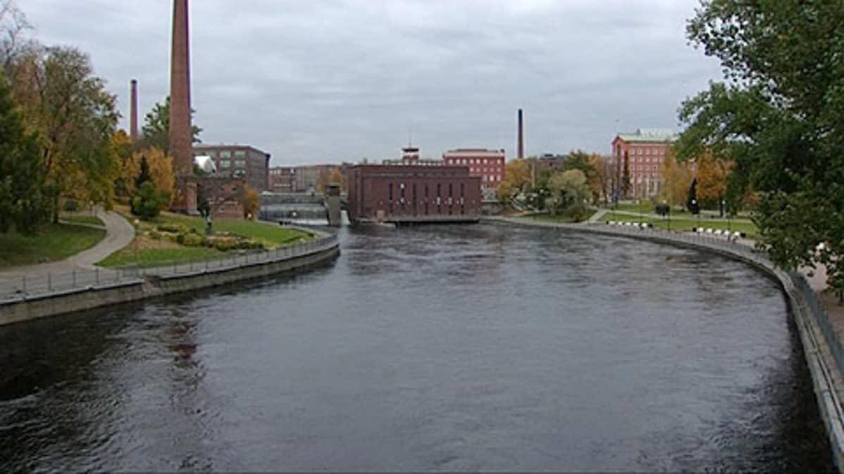 Tammerkoski Tampereella.