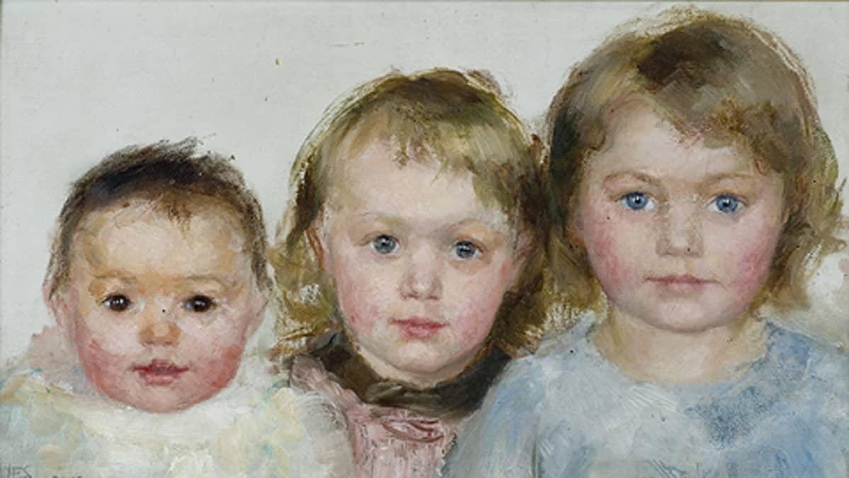 Hanna Frosterus-Segerstrålen maalaus Kolme vanhinta lasta