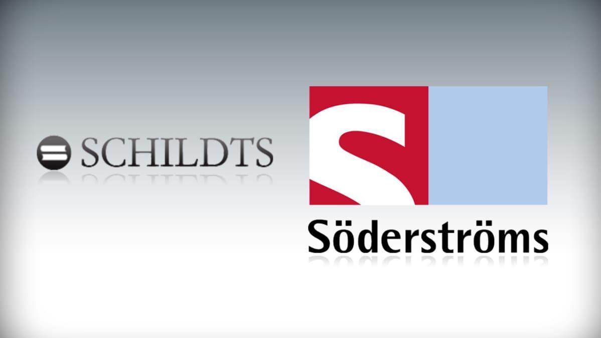 Schildts ja Söderströms -kustantamoiden logot.