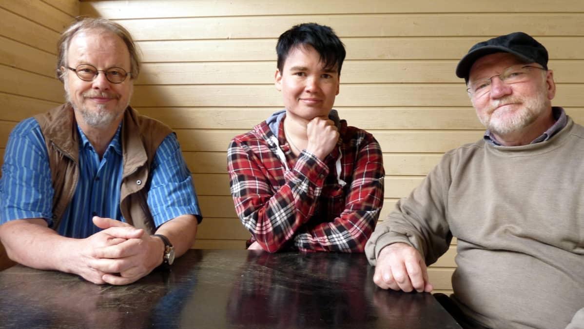 Kalervo Kärki, Antti Heikkinen ja Heikki Kuikkaniemi.