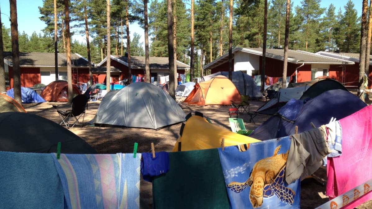 telttoja leirillä