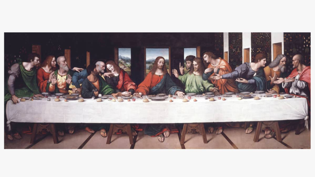 """Viimeinen ehtoollinen"" - The Last Supper"" (Giampietrino)."