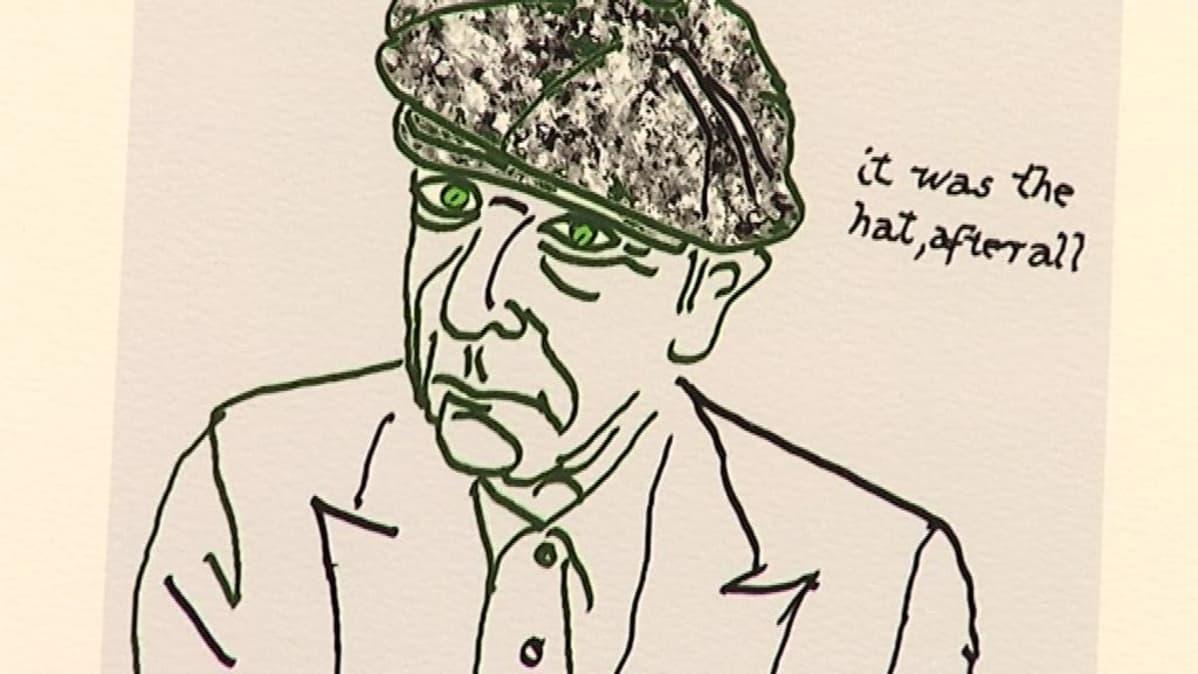 Leonard Cohen's self-portrait.