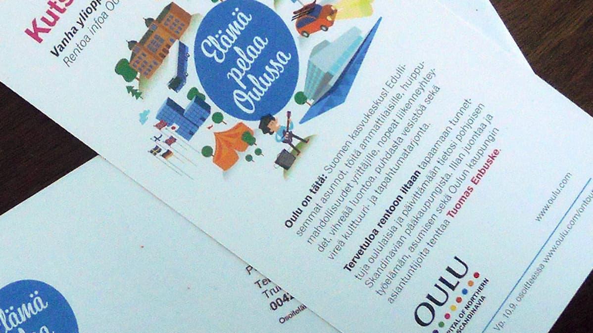 Oulu on Tour päivän kutsukortti.
