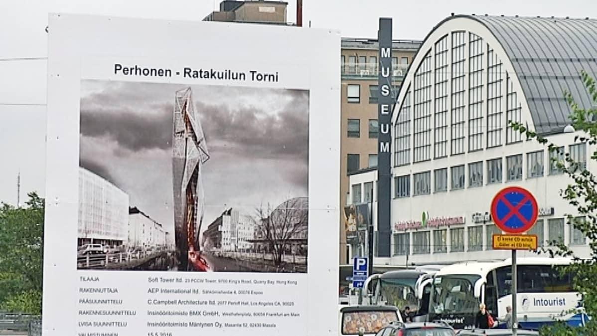 tornitalo kuvitteellinen aalto-yliopisto pilvenpiirtäjä ratakuilu