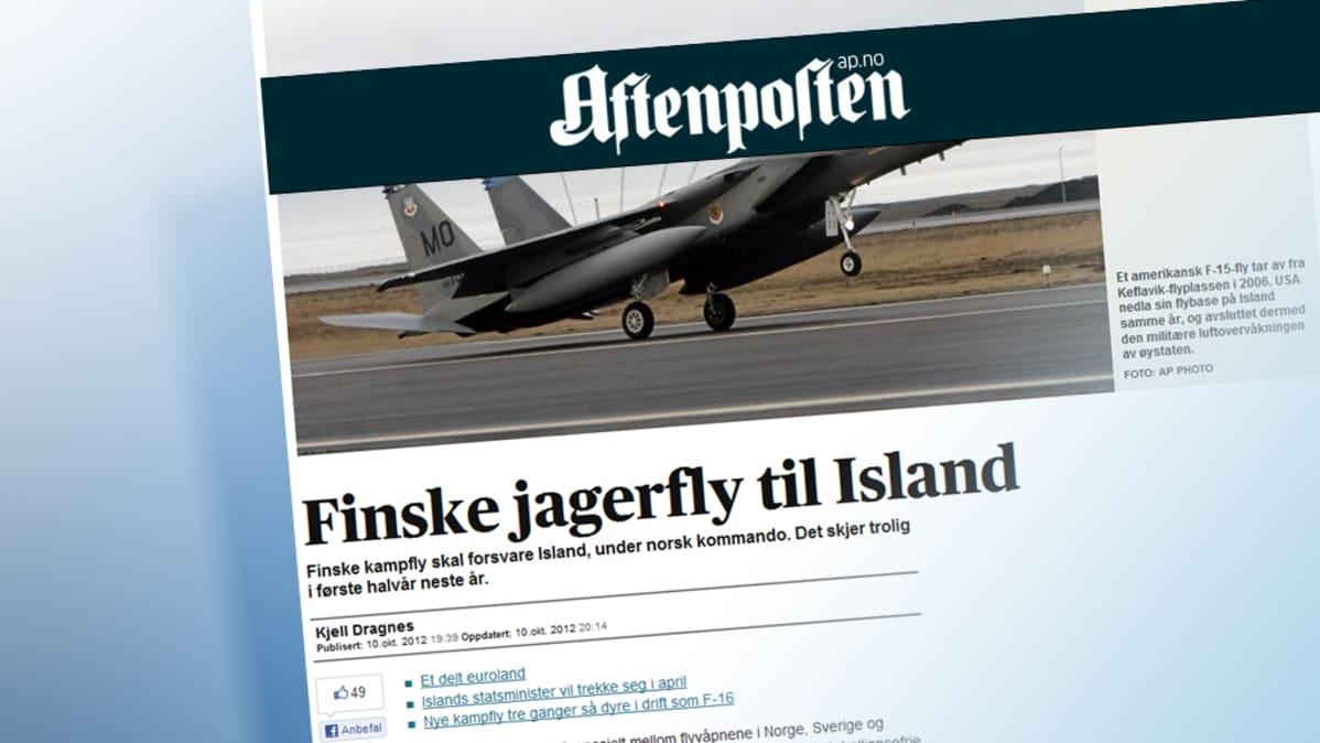 Kuva Aftenposten-lehden verkkosivuilta.