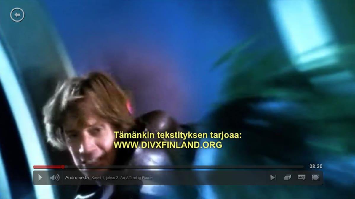 Kuvakaappaus Andromedan jaksosta Netflixissä.