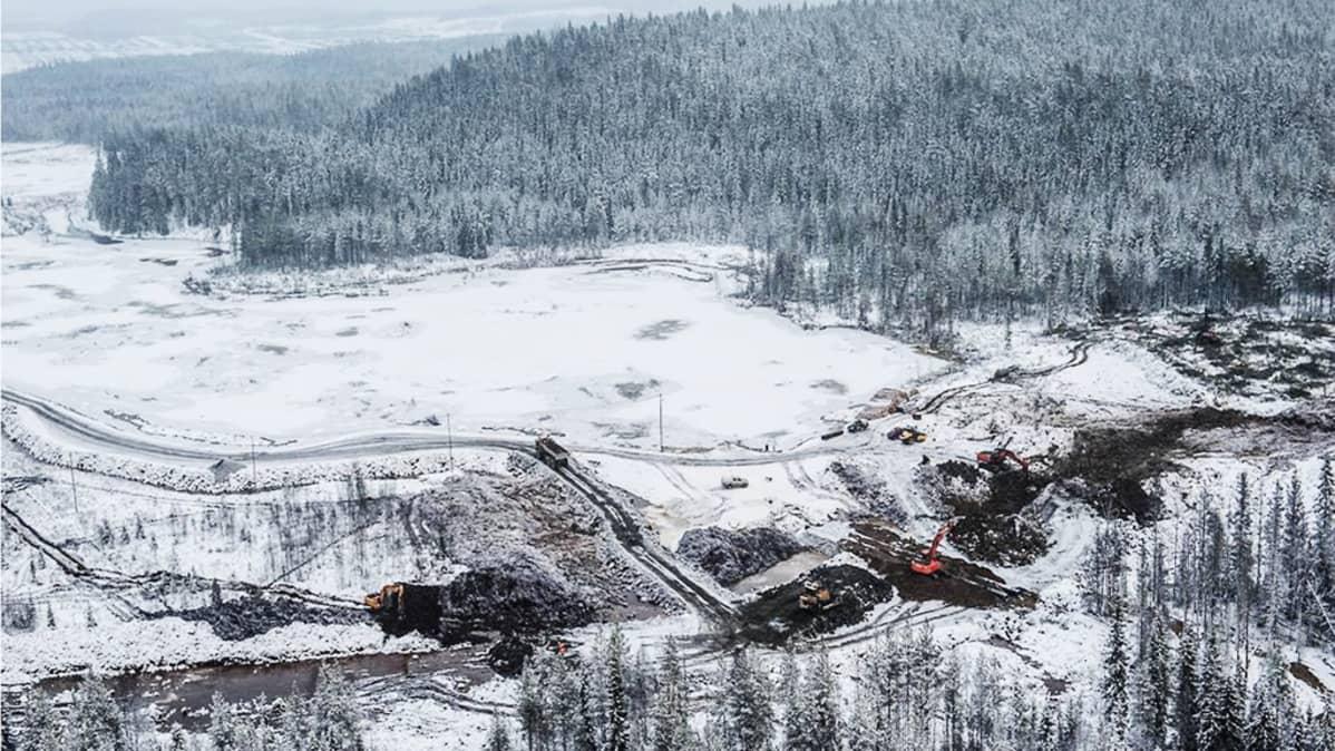 The fourth safety dam at Talvivaara.