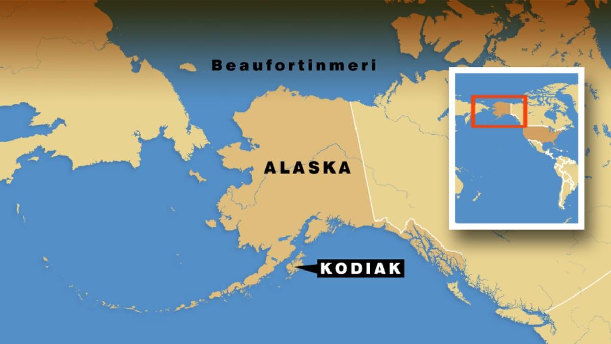 Alaskan kartta.