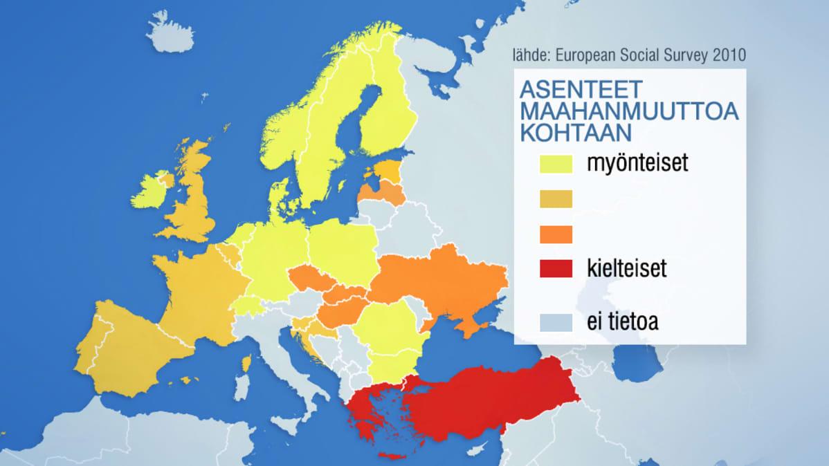 Euroopan rasismikartta