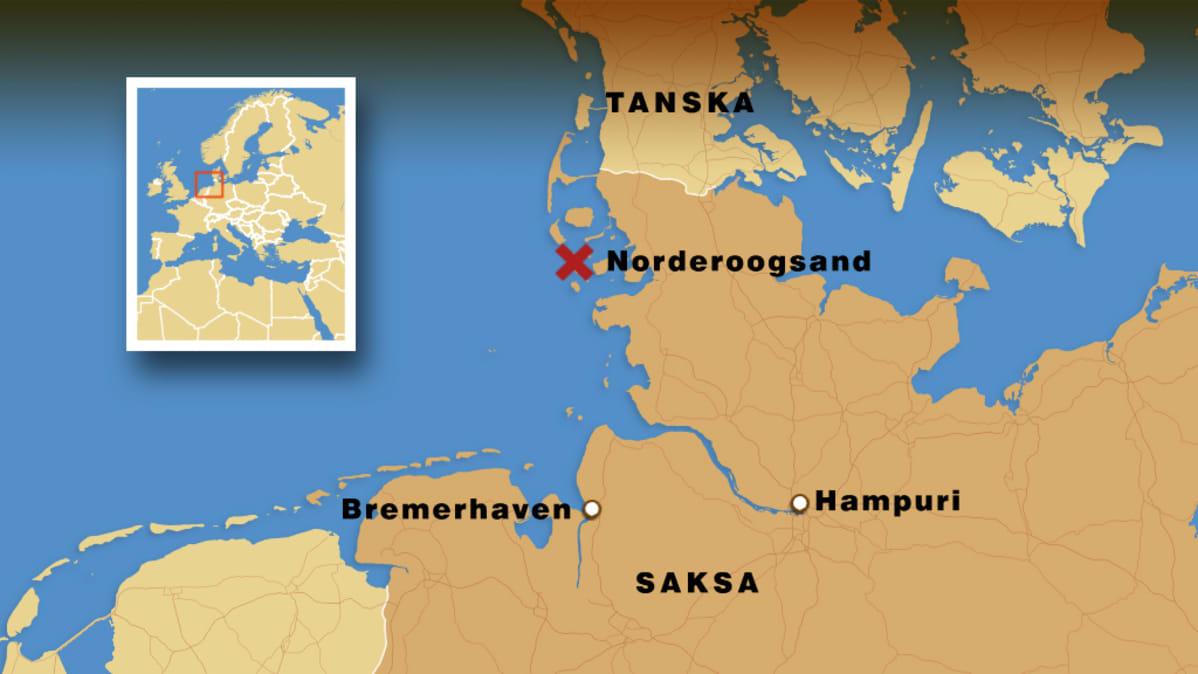 Saksan Rannikolle Putkahti Uusi Saari Yle Uutiset Yle Fi