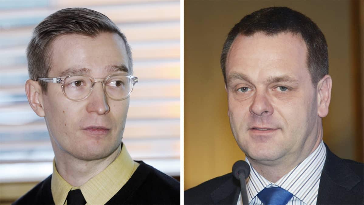 Oras Tynkkynen ja Jan Vapaavuori.