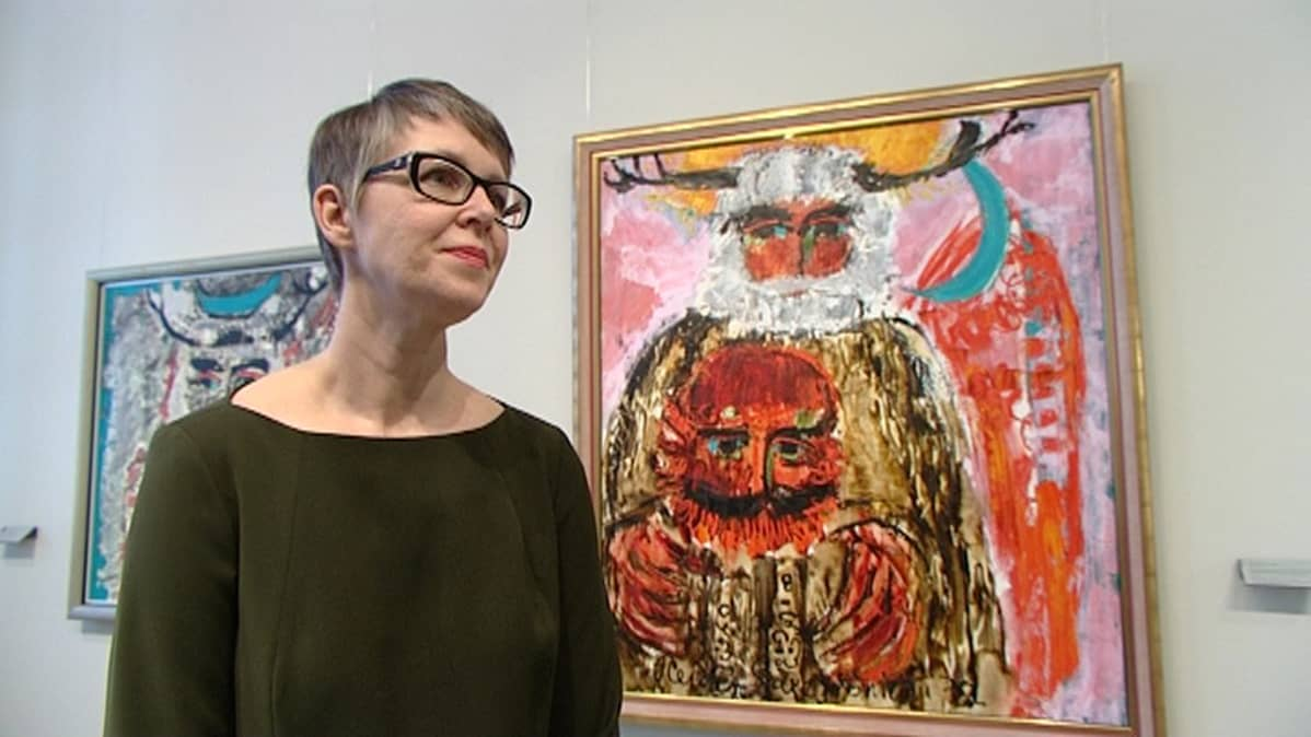 Turun taidemuseon amanuenssi Mia Haltia.