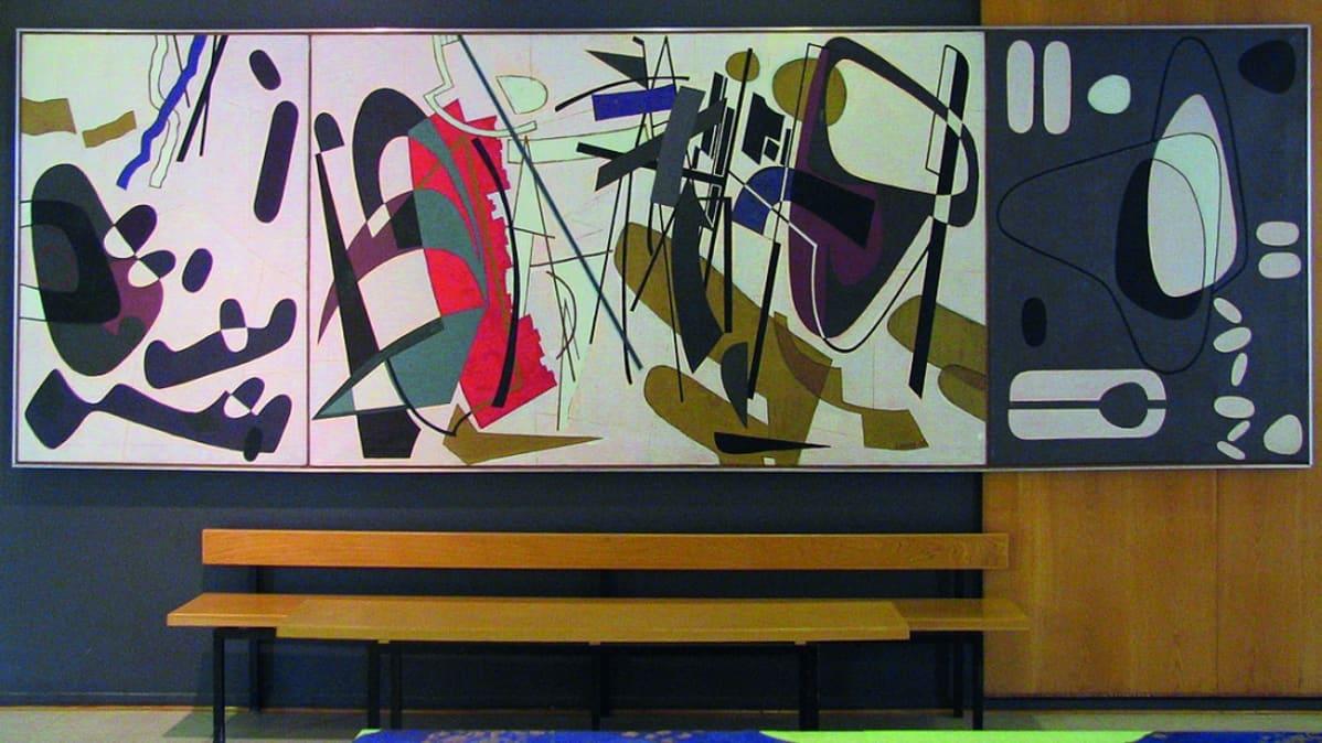 Sam Vanni: Contrapunctus (1960) / Helsingin taidemuseo.
