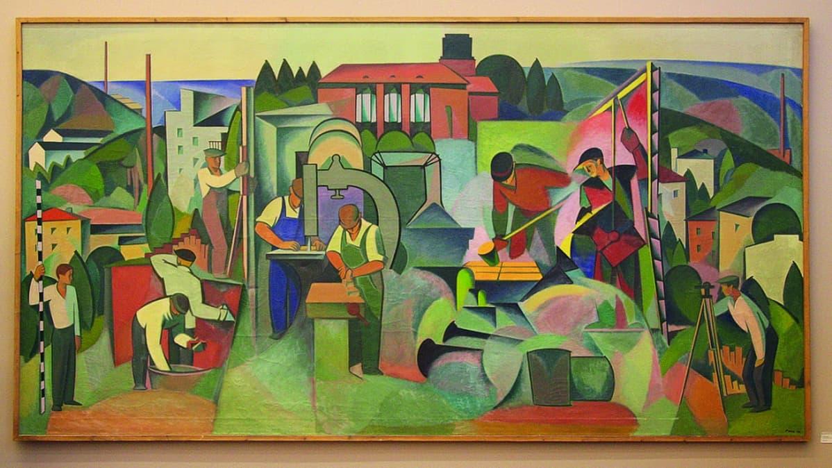 Unto Pusa: Kaupunki nousee (1954) / Taidesäätiö Merita.