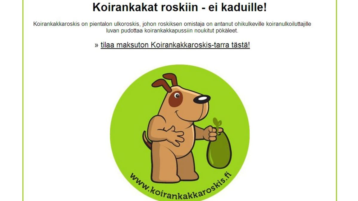 Koirankakkaroskis -kampanja