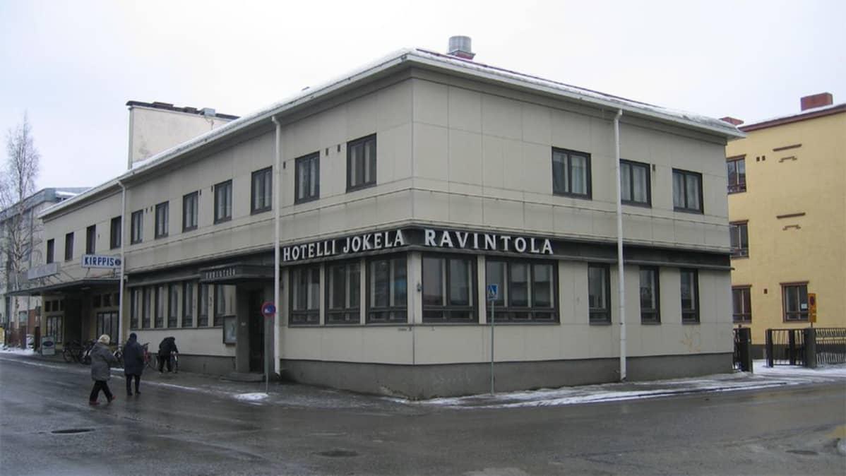 Tässä kiinteistössä toimi hotelli-ravintola Wanha Jokela ja aikanaan elokuvateatteri Kino-Karjala.