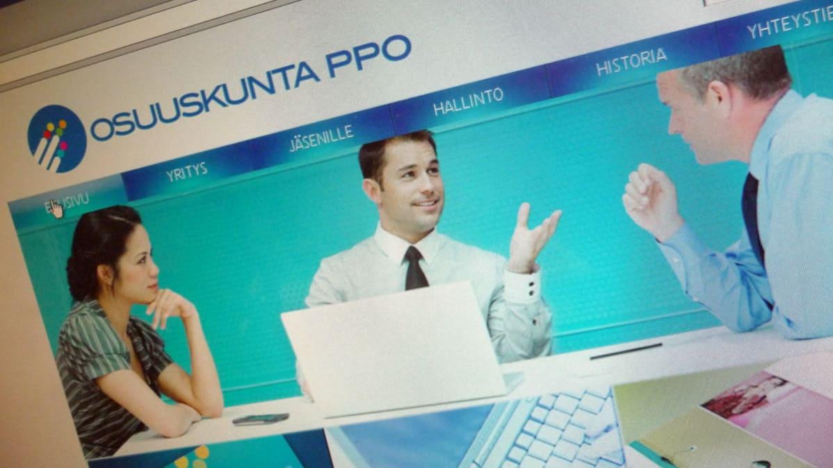 PPO osuuskunnan nettisivut