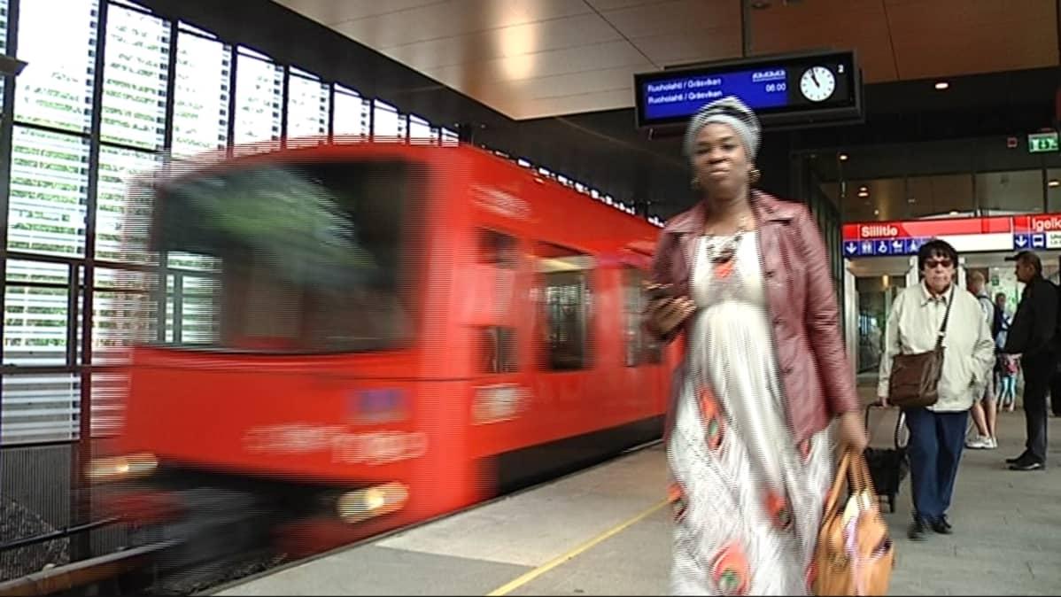 Siilitien metroasema.
