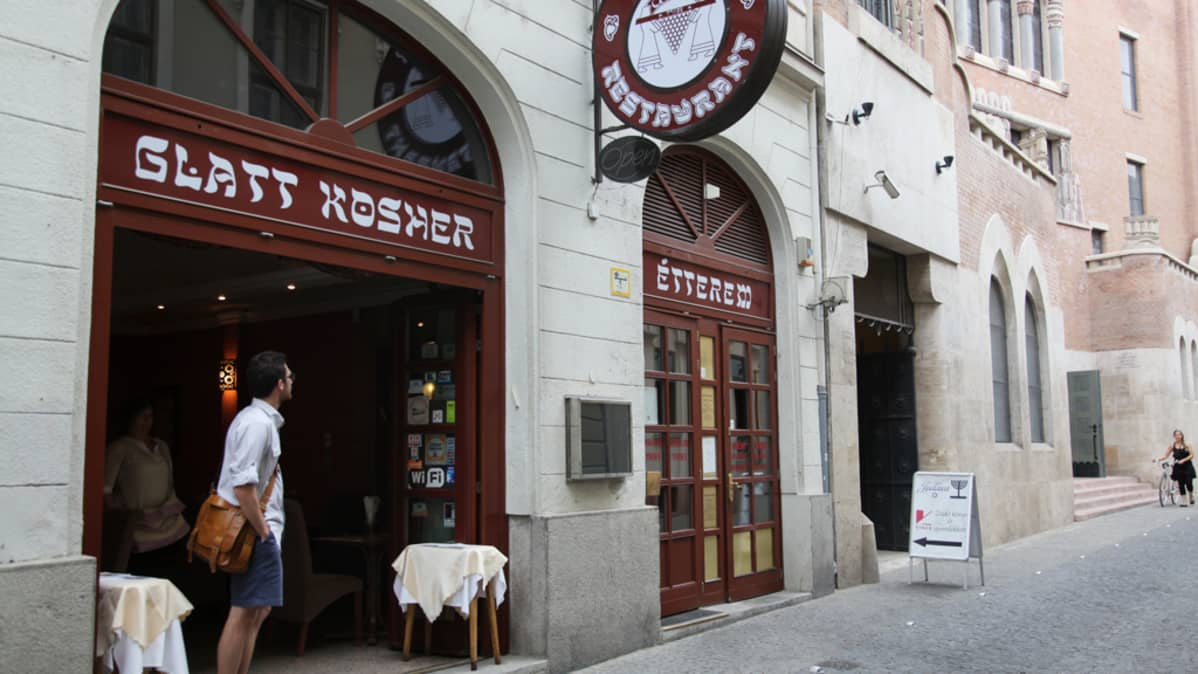 Kosher-ravintola Budapestissa.