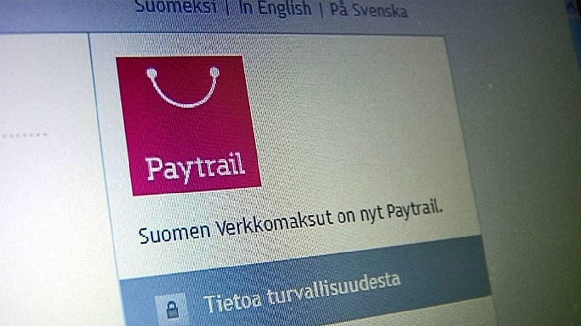 Paytrailin banneri internetsivuilla.
