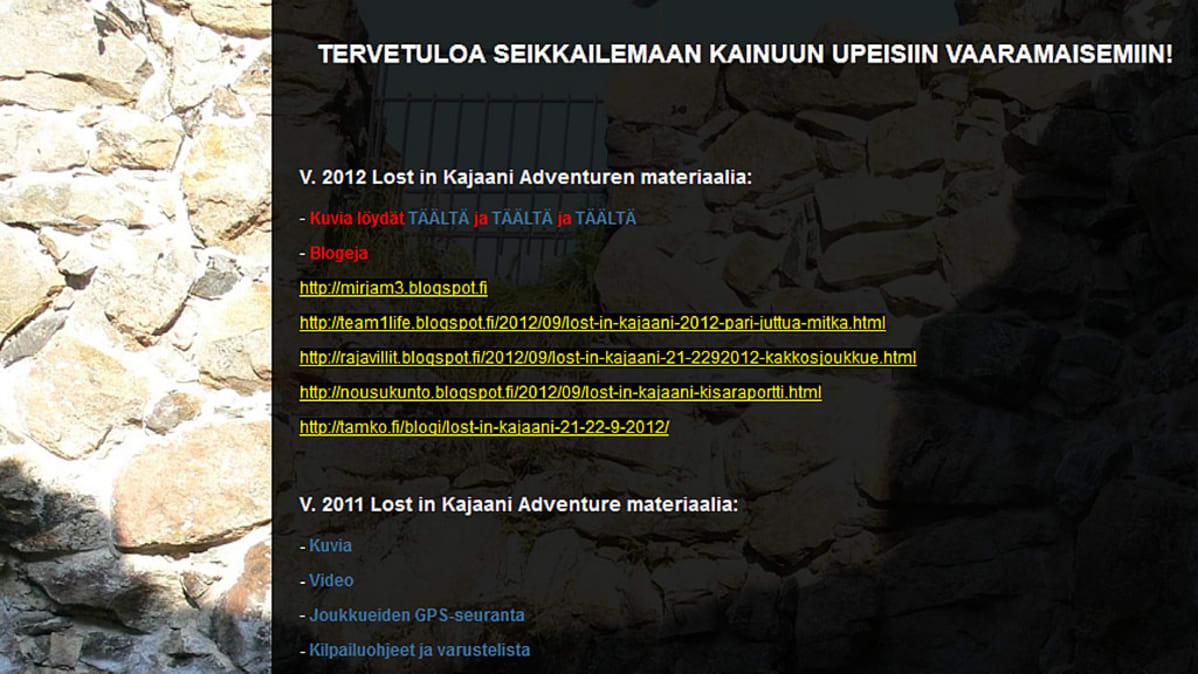 Lost in Kajaani -seikkailu-urheilutapahtuma on saanut suosiota bloggaajien kautta.