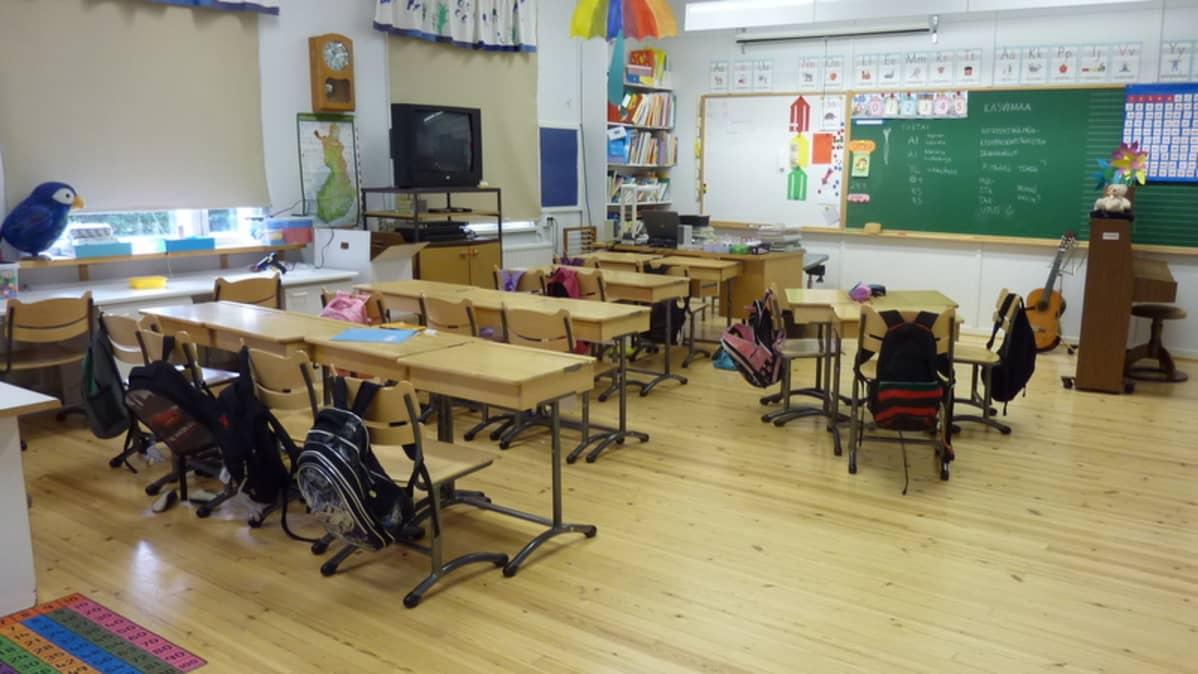 Hiirolan koulun luokkahuone