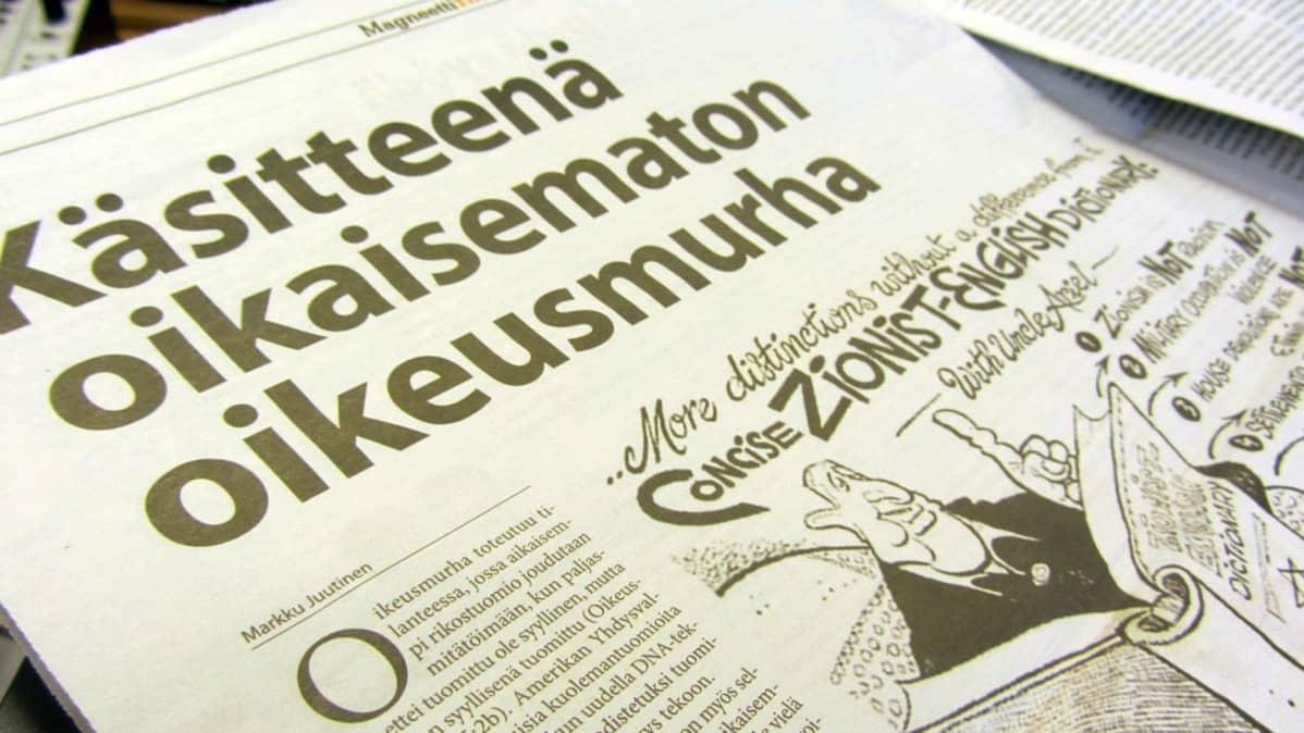 Juutalaiskirjoitusten julkaiseminen jatkuu Magneettimediassa huolimatta käräjäoikeuden tuomiosta.