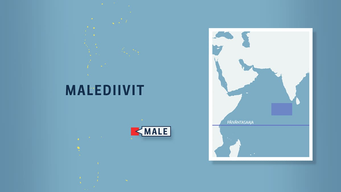 Malediivit kartalla.