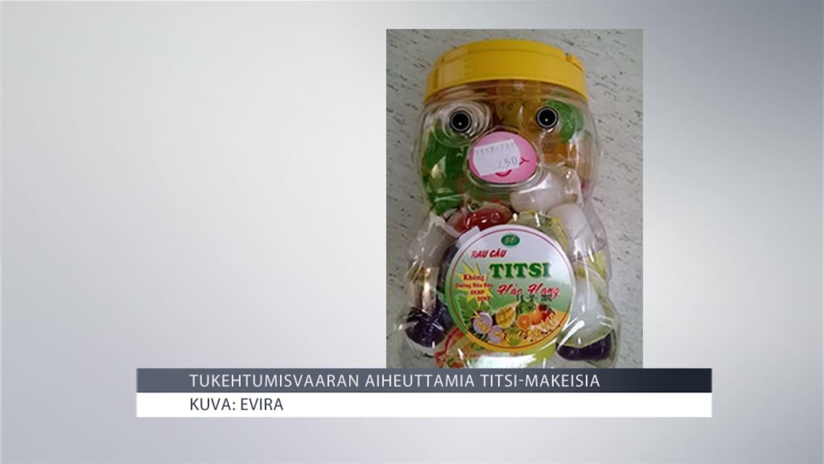 Titsi-makeispurkki